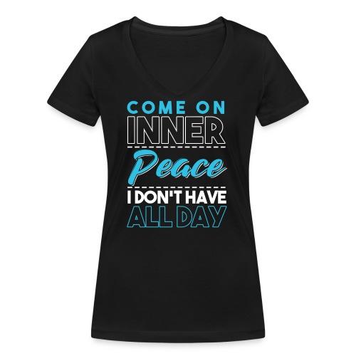 Inner Peace Meditation Funny Yoga Lover Gift - Frauen Bio-T-Shirt mit V-Ausschnitt von Stanley & Stella