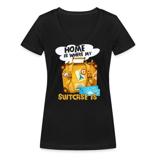 Home Is Where My Suitcase Is - Frauen Bio-T-Shirt mit V-Ausschnitt von Stanley & Stella