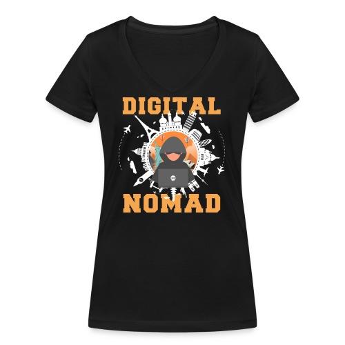 Digital Nomad - Frauen Bio-T-Shirt mit V-Ausschnitt von Stanley & Stella