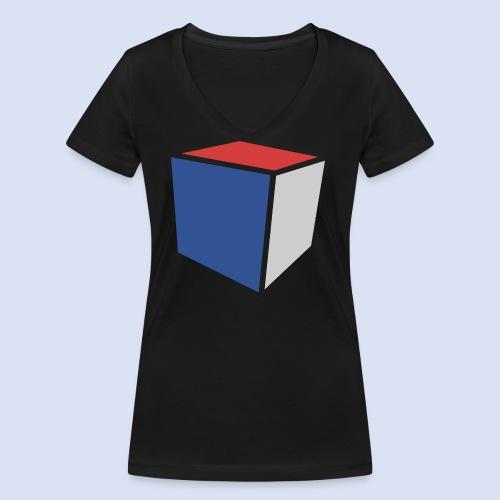 Cube Minimaliste - T-shirt bio col V Stanley & Stella Femme
