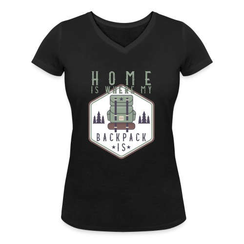 Home Is Where My Backpack Is - Frauen Bio-T-Shirt mit V-Ausschnitt von Stanley & Stella