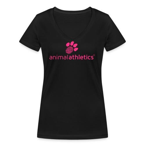 Animal Athletics Paw - Frauen Bio-T-Shirt mit V-Ausschnitt von Stanley & Stella