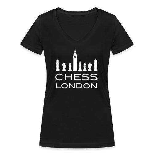 Schach London Weltmeister Schachfigur Geschenk - Frauen Bio-T-Shirt mit V-Ausschnitt von Stanley & Stella