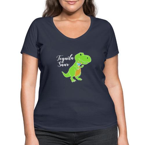 Tequila sour - dinosaur - Women's Organic V-Neck T-Shirt by Stanley & Stella