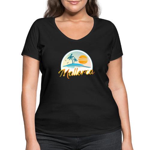 Mallorca - die goldene Insel der Lebensqualität - Frauen Bio-T-Shirt mit V-Ausschnitt von Stanley & Stella