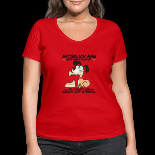 Dog - Frauen Bio-T-Shirt mit V-Ausschnitt von Stanley & Stella