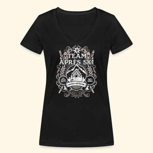 Saalbach-Hinterglemm Apres Ski T Shirt   Party - Frauen Bio-T-Shirt mit V-Ausschnitt von Stanley & Stella