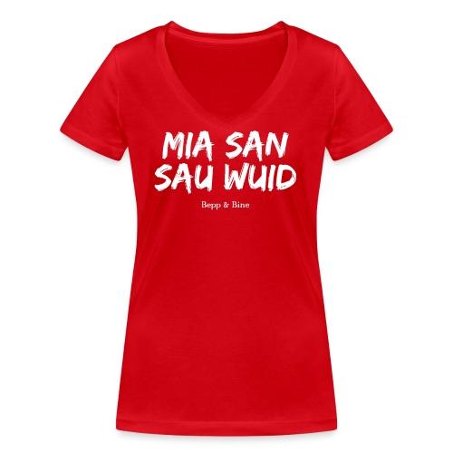 Sau wuid - Frauen Bio-T-Shirt mit V-Ausschnitt von Stanley & Stella