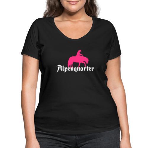 Alpenquarter_Trail02 - Frauen Bio-T-Shirt mit V-Ausschnitt von Stanley & Stella