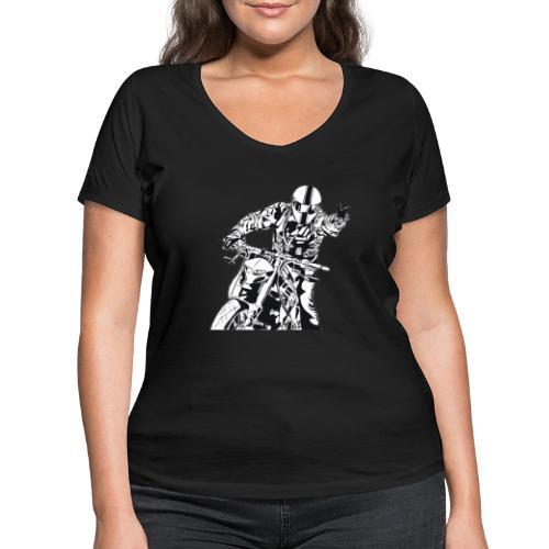 Streetfighter - Frauen Bio-T-Shirt mit V-Ausschnitt von Stanley & Stella