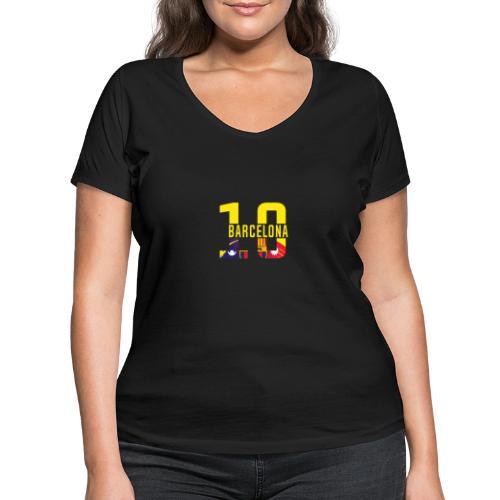 Barcelona Design. Modern und trendig - Frauen Bio-T-Shirt mit V-Ausschnitt von Stanley & Stella