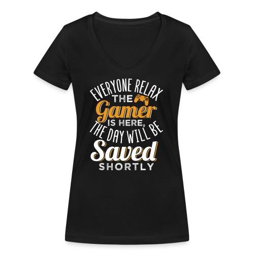 Relax The Gamer Is Here - Frauen Bio-T-Shirt mit V-Ausschnitt von Stanley & Stella