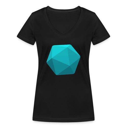 Sininen d20 - D&D Dungeons ja lohikäärmeet dnd - Stanley & Stellan naisten v-aukkoinen luomu-T-paita