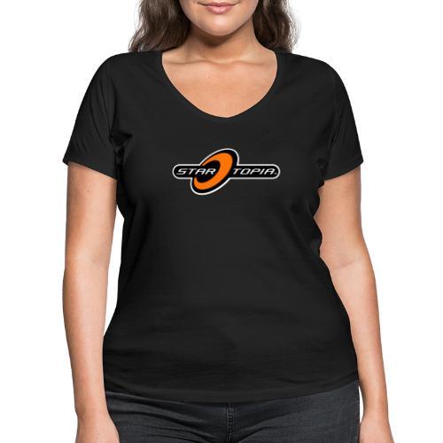 Startopia Logo - Women's Organic V-Neck T-Shirt by Stanley & Stella