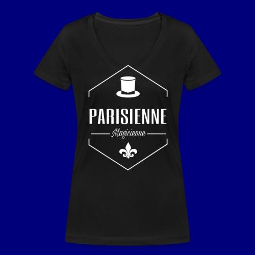 Parisienne magicienne - T-shirt bio col V Stanley & Stella Femme