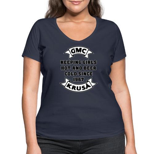 GMC HOLDING GIRLS HOT - Økologisk Stanley & Stella T-shirt med V-udskæring til damer