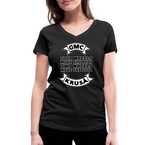 GMC FOUR WHEELS - Økologisk Stanley & Stella T-shirt med V-udskæring til damer