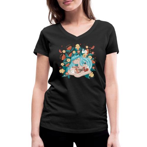 Flora & Fauna - Save the Planet - Frauen Bio-T-Shirt mit V-Ausschnitt von Stanley & Stella