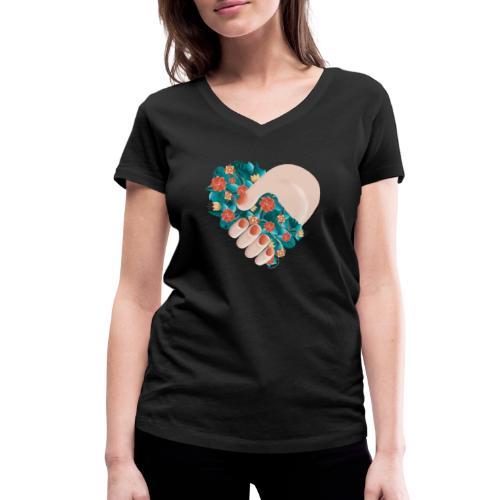 Ich verbinde mich mit der Natur - Frauen Bio-T-Shirt mit V-Ausschnitt von Stanley & Stella