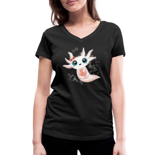 Baby Axolotl mit grossen Kulleraugen - Frauen Bio-T-Shirt mit V-Ausschnitt von Stanley & Stella