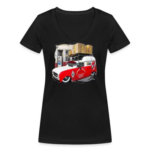 R4 4L F4 vehicules-anciens.fr - T-shirt bio col V Stanley & Stella Femme