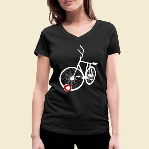 Radball   White - Frauen Bio-T-Shirt mit V-Ausschnitt von Stanley & Stella