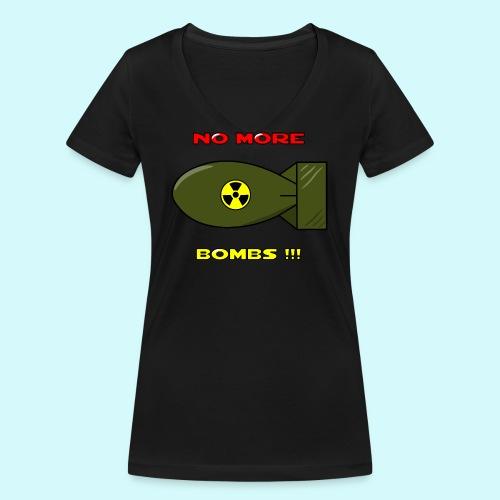 no more bombs - Stop Atom Bomben / Rackten - Frauen Bio-T-Shirt mit V-Ausschnitt von Stanley & Stella