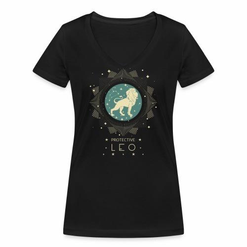 Sternzeichen Löwe Sternbild Geburtstag Juli August - Frauen Bio-T-Shirt mit V-Ausschnitt von Stanley & Stella