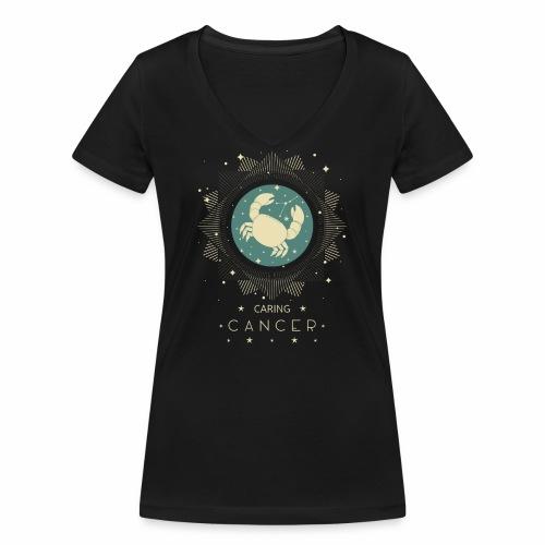 Beschützender Krebs Sternbild Monat Juni Juli - Frauen Bio-T-Shirt mit V-Ausschnitt von Stanley & Stella