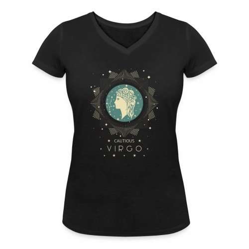 Sternzeichen Behutsame Jungfrau August September - Frauen Bio-T-Shirt mit V-Ausschnitt von Stanley & Stella
