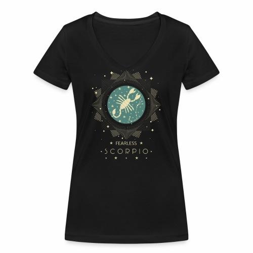 Sternzeichen Furchtloser Skorpion Oktober November - Frauen Bio-T-Shirt mit V-Ausschnitt von Stanley & Stella