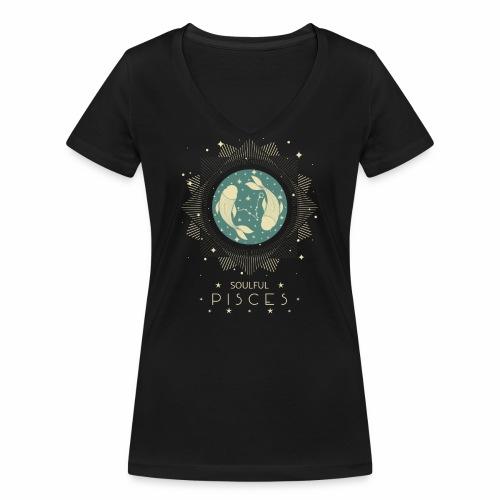 Sternzeichen Pisces Seelvolle Fische Februar März - Frauen Bio-T-Shirt mit V-Ausschnitt von Stanley & Stella