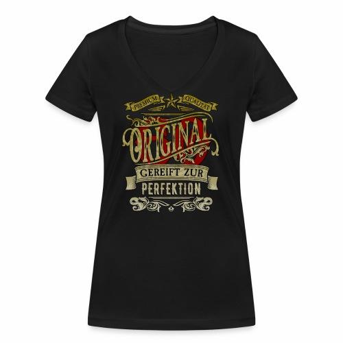 Original60 Premium Qualität Gereift zur Perfektion - Frauen Bio-T-Shirt mit V-Ausschnitt von Stanley & Stella