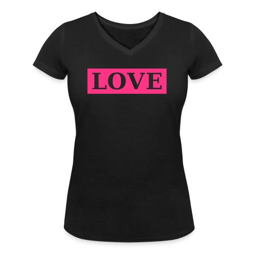 LOVE 1 - Frauen Bio-T-Shirt mit V-Ausschnitt von Stanley & Stella