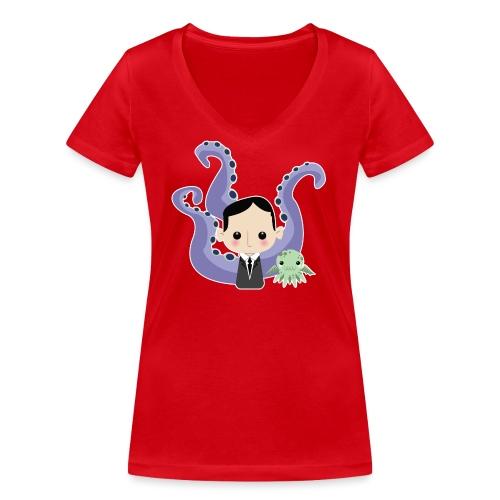 Lovecraft and Cthulhu - T-shirt ecologica da donna con scollo a V di Stanley & Stella