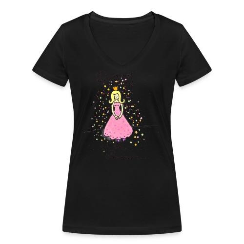 Du räumst auf, ich bin Prinzessin - Frauen Bio-T-Shirt mit V-Ausschnitt von Stanley & Stella