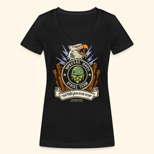Craft Beer Fan T Shirt Special Hops Strike Team - Frauen Bio-T-Shirt mit V-Ausschnitt von Stanley & Stella