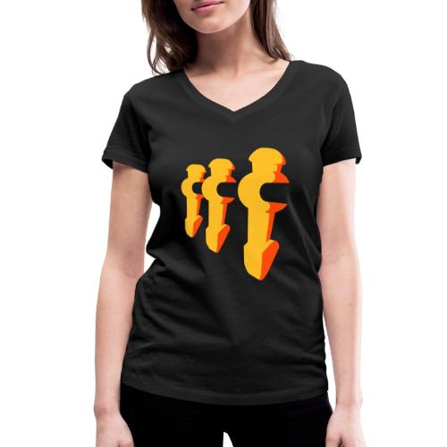 Kickerfiguren - Kickershirt - Frauen Bio-T-Shirt mit V-Ausschnitt von Stanley & Stella