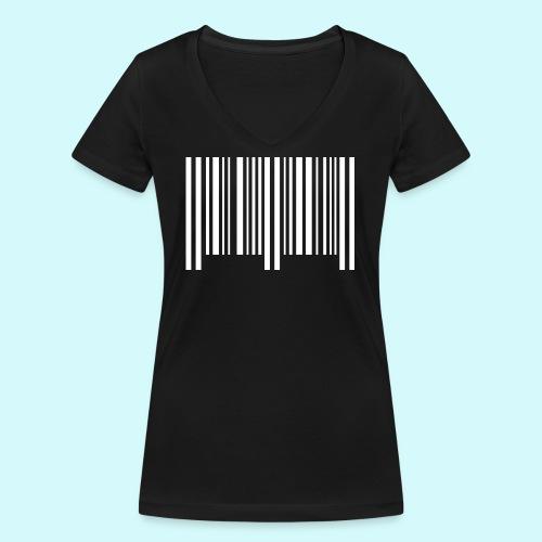 barcode - weiss - Frauen Bio-T-Shirt mit V-Ausschnitt von Stanley & Stella