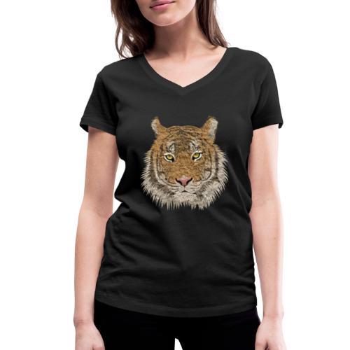 Tiger - Frauen Bio-T-Shirt mit V-Ausschnitt von Stanley & Stella