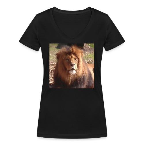 Lejon - Ekologisk T-shirt med V-ringning dam från Stanley & Stella