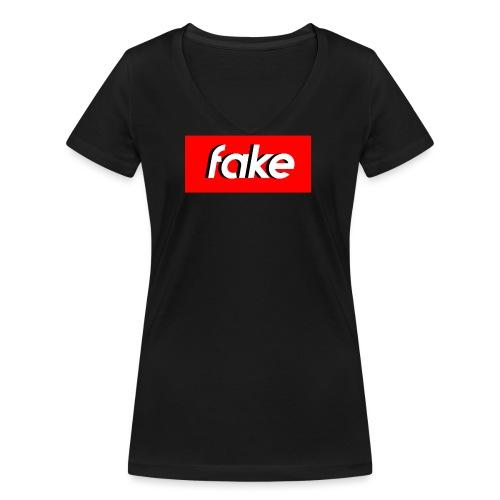 shadow logo - T-shirt ecologica da donna con scollo a V di Stanley & Stella