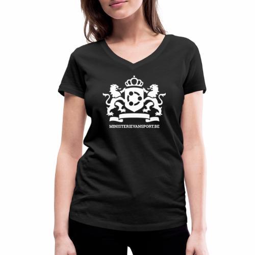 Ministerie van Sport Logo - Vrouwen bio T-shirt met V-hals van Stanley & Stella