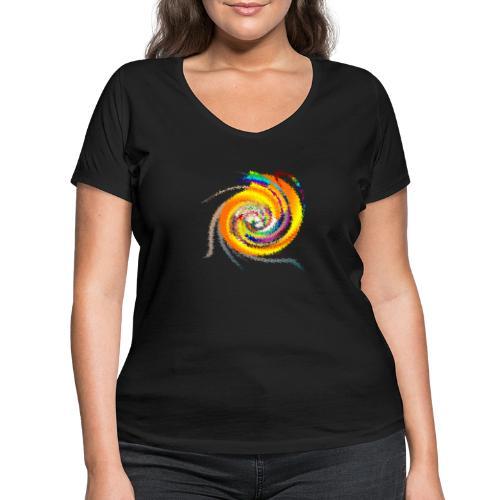 Design Galaxie by Eve Nord - Frauen Bio-T-Shirt mit V-Ausschnitt von Stanley & Stella
