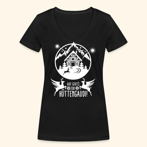 Hüttengaudi - Frauen Bio-T-Shirt mit V-Ausschnitt von Stanley & Stella