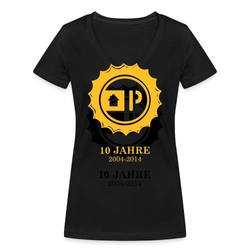 druck_10_jahre_light - Frauen Bio-T-Shirt mit V-Ausschnitt von Stanley & Stella