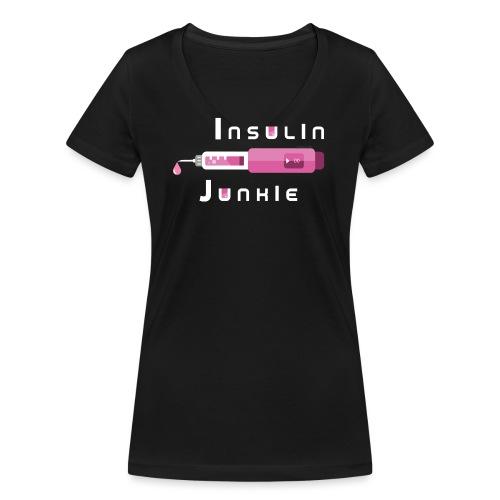Insulin-Shirt-pink - Frauen Bio-T-Shirt mit V-Ausschnitt von Stanley & Stella