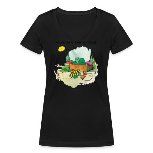 Janoschs 'In der Ruhe liegt die Kraft' - Frauen Bio-T-Shirt mit V-Ausschnitt von Stanley & Stella