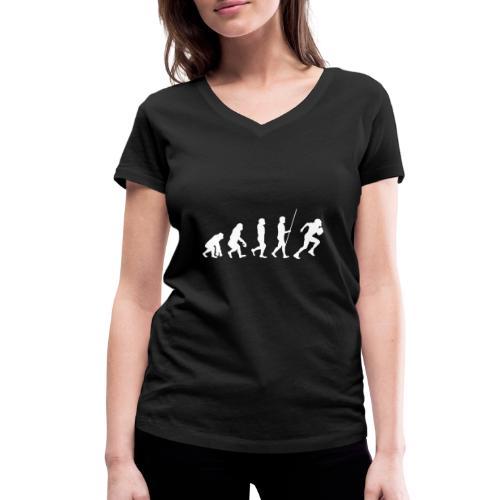 Evolution - Frauen Bio-T-Shirt mit V-Ausschnitt von Stanley & Stella