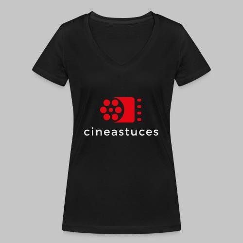 cineastuces logo png - T-shirt bio col V Stanley & Stella Femme